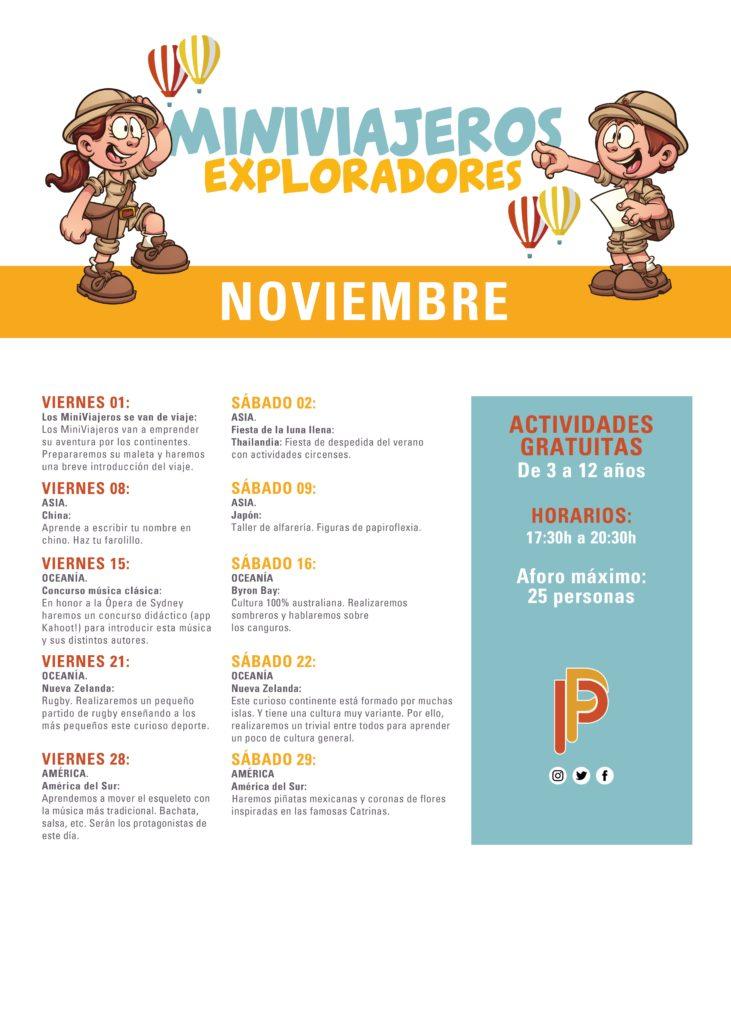 Actividades Infantiles Noviembre